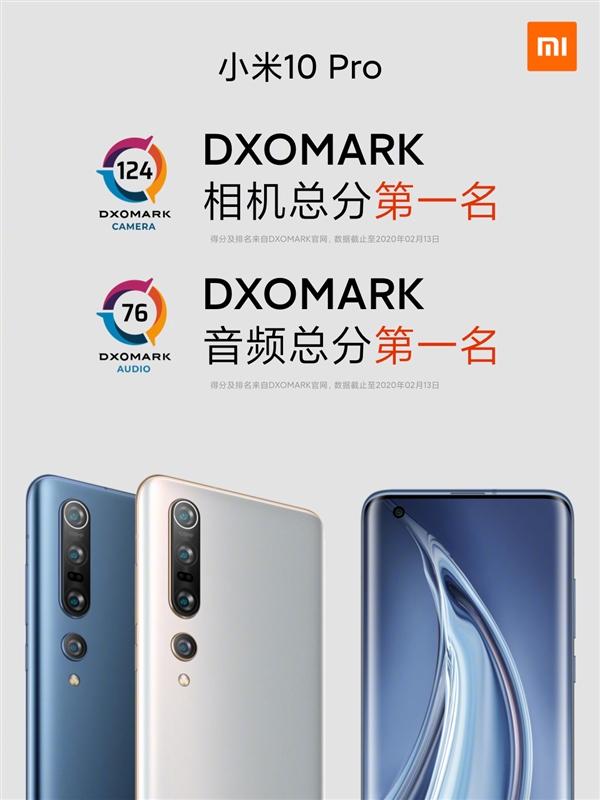 超越华为、苹果:小米10 Pro加冕DxOMark音频榜全球第一