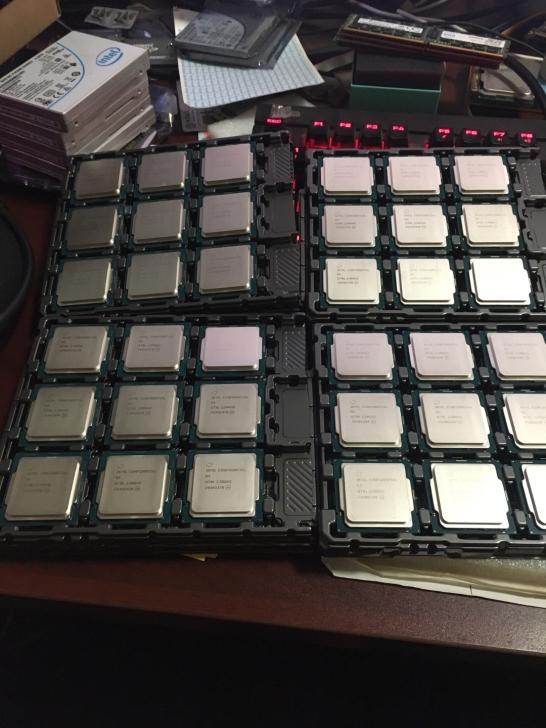 一大批Intel 10代酷睿桌面ES散片偷跑:最高10核