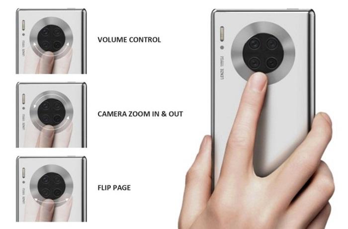 新专利曝光:华为或在Mate 40后摄外圈配备环形触控屏