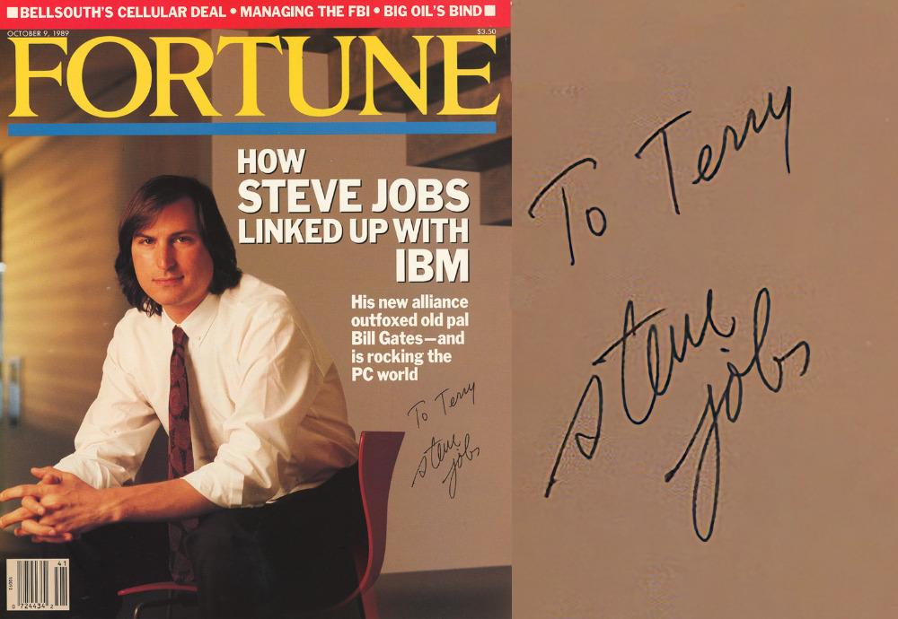 乔布斯亲笔签名的杂志封面在拍卖会上以16638美元成交