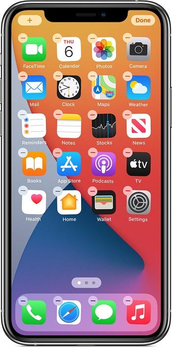 iOS 14小技巧:快速移动并重排iPhone上的全屏应用图标