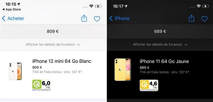 苹果开始在法国官网上显示iPhone和Mac的可维修性评分