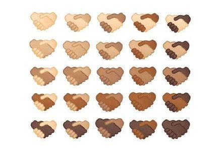 Emoji将更新25个不同肤色的握手符号