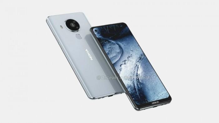 诺基亚7.3渲染图曝光 从正面和背面展示手机