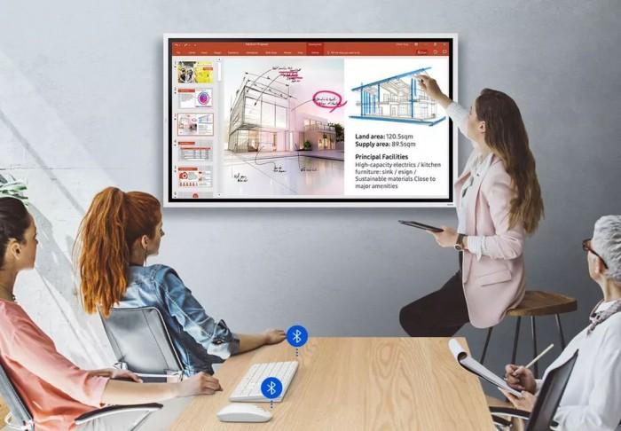 [图]三星发布85英寸可交互屏幕 疫情下可部署在教室的数字白板