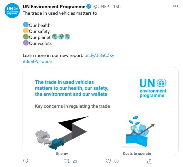 联合国环境署:欧美日出口的二手车 多数质量低劣污染严重