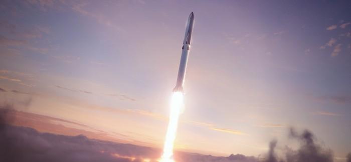 """马斯克称SpaceX将尝试用发射塔""""抓住""""超级重型火箭助推器进行回收"""