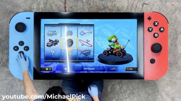 美國工程師打造世界上最大的Switch 長1.77米 - 遊戲