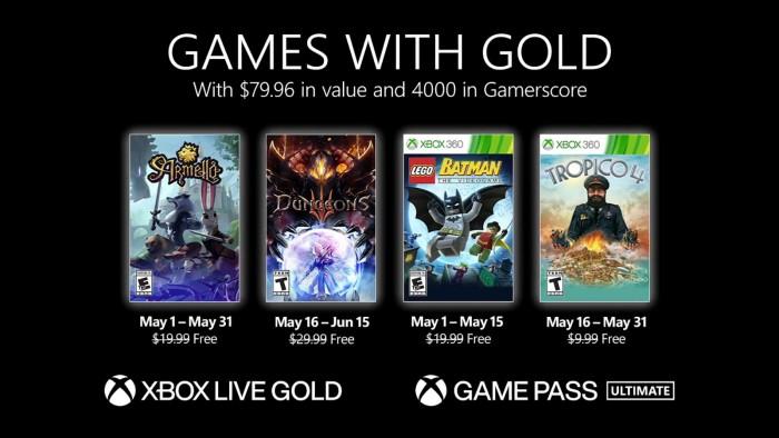 微軟Xbox Live金會員2021年5月免費遊戲公布 - Microsoft XBOX