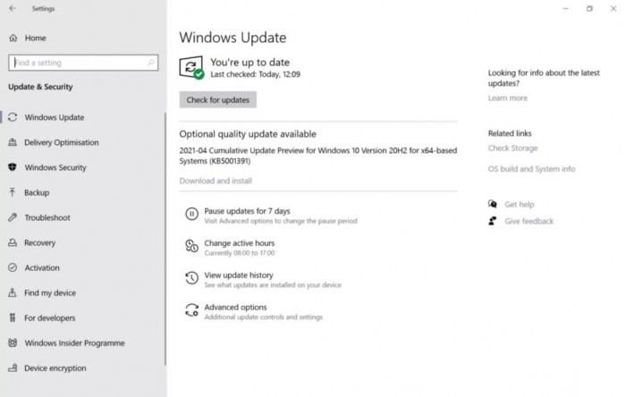 如存在随机高CPU占用问题 请尝试安装本月Windows 10累积更新