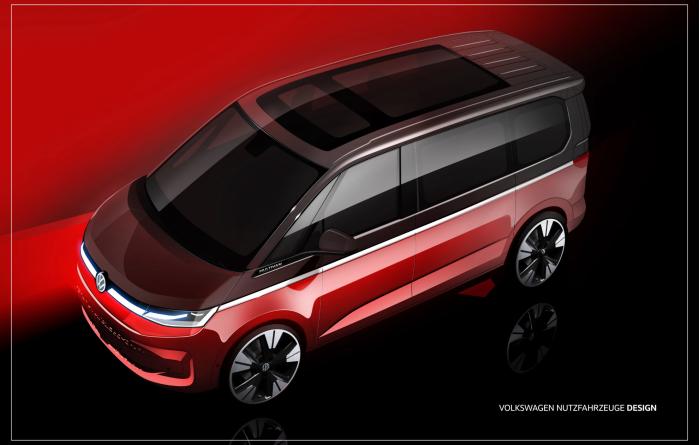 运动车身轮廓:大众公布新款T7草图
