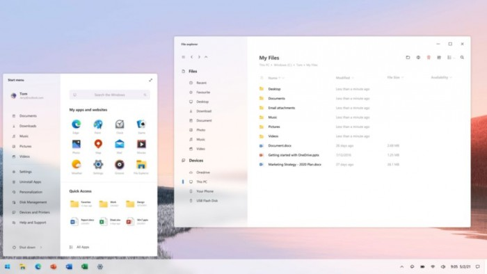 [图]Windows 10概念设计:这是你想要的开始菜单和弹窗吗