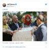 无声抗议?贝佐斯发布参加沙特遇害记者追悼会照片