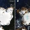 南极遭遇热浪袭击 鹰岛冰雪出现大面积融化