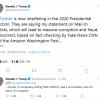 """推文被推特官方贴""""事实核查""""标签 特朗普回击:这是干涉大选"""