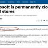 微软宣布永久关闭实体店 但不计划裁员