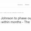 每日电讯报:首相约翰逊宣布将逐步停止在英国5G网络中使用华为技术