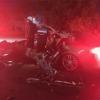 """特斯拉Model S严重车祸 A柱被18轮重卡""""撞没""""!驾乘人员幸存"""