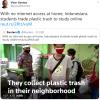 印尼孩子上网课,先捡垃圾换WiFi