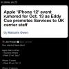 """泄密者确认10月13日苹果举办""""iPhone 12""""活动 Pro机型晚些时候到货"""