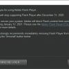 Windows 10开始出现Adobe Flash Player寿终正寝弹窗提醒