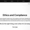 """苹果推""""道德与合规""""网页以详细介绍公司如何履行社会责任"""