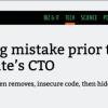大厂来的水货CTO:低级bug被敲诈50万美元 事后删代码隐藏证据
