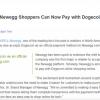 在线销售网站新蛋网(Newegg)支持狗狗币支付